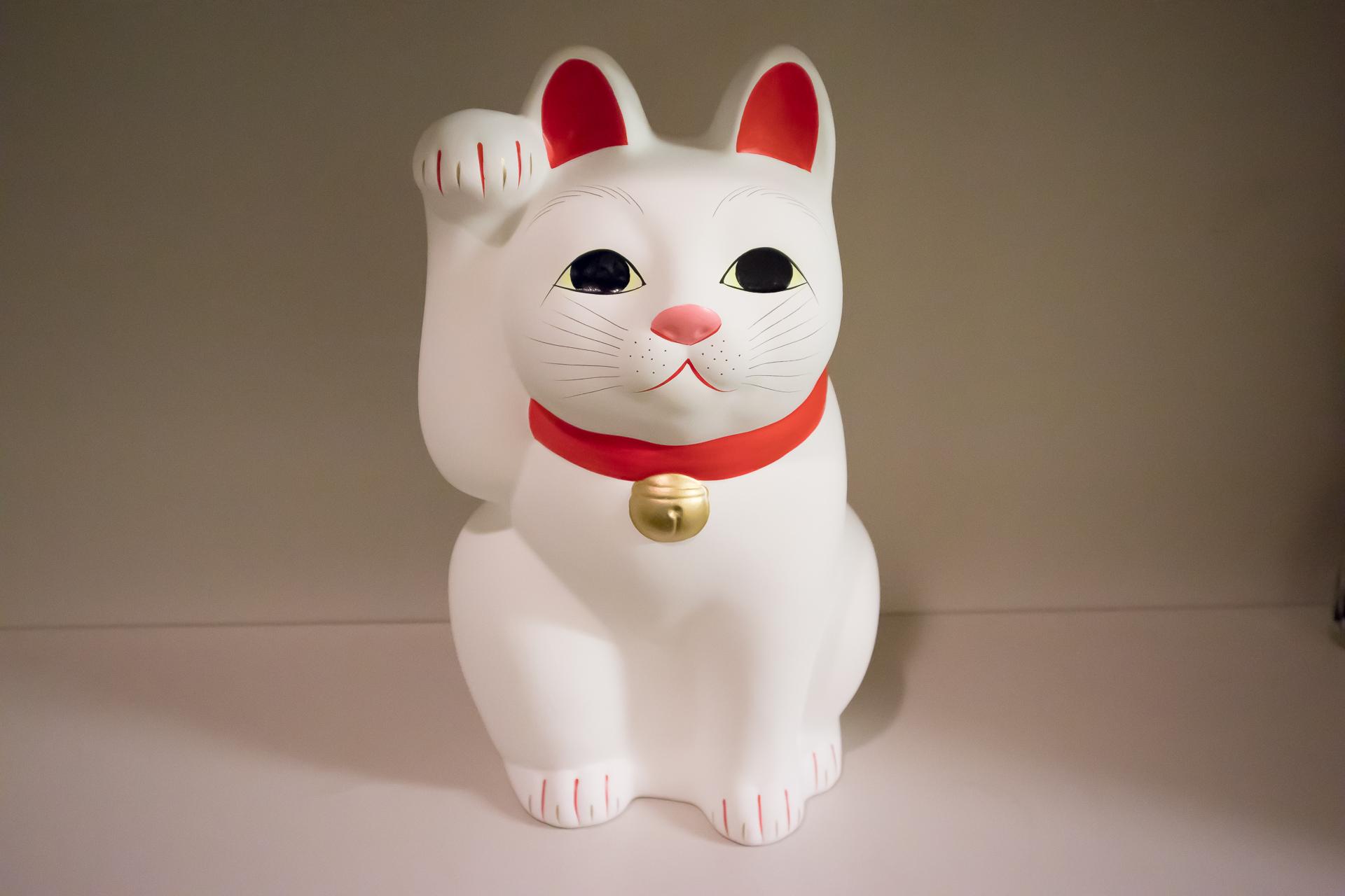 2018年、ユーリンク株式会社に迎えた豪徳寺の招き猫